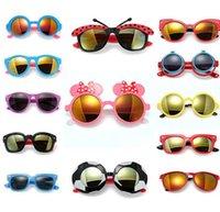 Resin Lenses Fashion Rectangle Fashion Kids Child Polarize PC UV400 Sports Cartoon Sun Glasses Baby Girls Boys Outdoor Designer Sunglasses 13 Styles Free Ship S1049