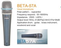 Wholesale microfono High end quality High end Dynamic Handheld Microphone BETA57A Professional wire microphone Performance microphone meeti