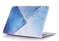 Wholesale Denim Texture Hard Case For apple Macbook Air Pro Retina Bag Matte Protective PVC Jeans Marble Pattern Cover Shell