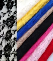 abrasion resistant materials - Roses Stretch Lace Mesh Gauze Dress Shirt Material Colors Baby Shawl Scarf Skirt Fabric HY1180