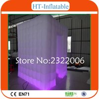 advertising photos - Event Supplies LED Inflatable Photo Booth Enclosure with LED Changing Lights Decoration Display For Outdoor Exhibition Advertise