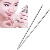 Wholesale 2pcs Pro Blackhead Comedone Remover Acne Blemish Pimple Extractor Tool K00059 BAR