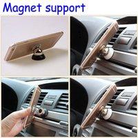 Giratorio magnético del sostenedor del montaje del coche para Samsung Accesorios GPS stent para Iphone 6 ayuda del soporte del teléfono celular magnética Soporte para coche