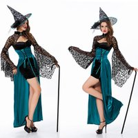 Wholesale Halloween Costume Sexy Witch Costume Deluxe Adult Womens Magic Moment Costume Adult Witch Halloween Fancy Dress