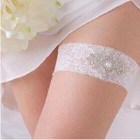 Wholesale Charming Crystal Elastic Rhinestone Lace Bridal Wedding Prom Garter ee