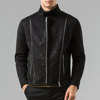 Wholesale Fall Winter Men s PU leather jacket faux Leather Motorcycle jackets men bomber coat biker jacket