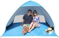beach cabana - Automatic Pop Up Portable Outdoors Family Beach Tent Quick Cabana Sun Shelter