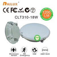 microwaves - Modern surface mounted round W Led ceiling lights Microwave sensor W Emergency Ø310 mm led ceiling years warranty