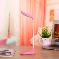 best led desk lamp - Hot sale Banana Cree LED bulbs Clip desk lamp flexional rechangeable touch sensor fashion table light best novelty gift