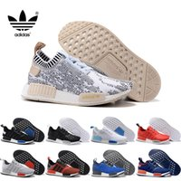 basketball kicks - 2016 Adidas NMD Runner R1 Primeknit Nice Kicks Circa Knit Black Men Women Running Shoes Sneakers Originals Classic Super Star Casual Shoes