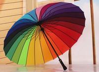 Wholesale 07206 k gift umbrella Advert Unbrella Rainbow Umbrella long handle umbrella