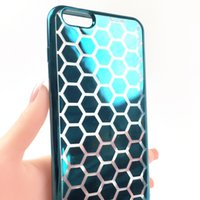 apples shapes - Transparent Shell TPU mobile phone Case For iPhone6 plus plus Samsung Note7 Note5 Honeycomb Shape Case Back Cover Phone