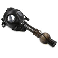 Cheap Gas mask pipe new smoking pipes Gas Mask Water Pipes Sealed Acrylic Hookah Pipe - Bong - Filter Smoking Pipe Free Shipping