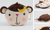 Cheap 6PCS Kawaii Banana Monkeys Plush Lady's Coin Purse & Wallet Pouch Case ; BAG Pendant Bags Pouch Beauty Holder BAG Women Handbag