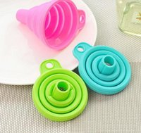 Wholesale Mini Silicone Collapsible Funnel Foldable Funnel for Liquid Transfer Hot Sale Kitchen Gadgets New