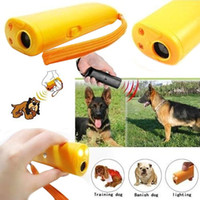 Wholesale 3 in Anti Barking Stop Bark Ultrasonic Pet Dog Repellent Training Device Trainer Banish Training with LED Light and Retail Package A066