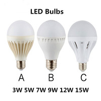 Wholesale LED Bulbs Globe Bulbs Lights W W W W W E27 SMD2835 LED Light Bulbs Warm Pure White Super Bright Energy saving Light