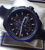 battery rs - Mens Luxury Wristwatch Black PVD Ayrton Senna Luxury rs watch Black rubber Swiss Movt Chronograph quartz Mens Men s Watches Sport Wristwatch