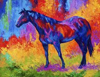 bay life - bay mare Giclee painting arts and canvas wall decoration art Oil Painting on Canvas longhorn steer marion rose MRR121