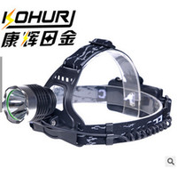 Wholesale Black Outdoor Gear LED Headlamp XPE Rechargeable LED Camping Hiking Headlight