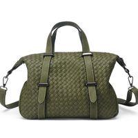 Wholesale Luxury Brand Fashion Weave Leather Women Bag Green Gray Crossbody Shoulder Messenger Bags Woman Handbags Tote Bolsas FR115