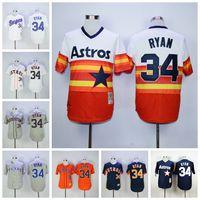 astros throwback - Throwback Nolan Ryan Jersey Houston Astros Nolan Ryan Baseball Jerseys Flexbase Cool Base Rainbow Orange Grey White Navy Blue Green