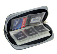 Wholesale Black SD SDHC MMC CF Micro SD Memory Card Storage Carrying Pouch Case Holder Office Pro Trackpad Apple