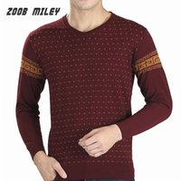 acrylic knitwear - Fashion Warm Mens Sweater Pullover Brand New V neck Long Sleeve Cotton Causal Jumpers Knitwear Winter Plus Size M XXXL
