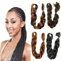 Wholesale Fashion Kanekalon Synthetic Braiding hair Folded cm Many colors Ombre pure color Jumbo braid hair extensions Free Ship