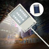 оптовых светодиодные панели солнечных огней-15 LED панели солнечных батареях Светодиодный уличный свет Солнечный датчик освещения Открытый путь Настенный светильник аварийного безопасности Пятно света Luminaria БЕСПЛАТНО КОРАБЛЬ