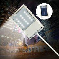 achat en gros de led emergency light-15 LED solaire de chemin Panneau de LED Light Street solaire Capteur Éclairage extérieur SHIP Lampe d'urgence mur de sécurité Spot Light Luminaria GRATUIT