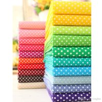 Wholesale 20 color Multicolor Polka Dot cotton fabric tilda fabrics patchwork cotton tissue home textile woven telas tecido H210506
