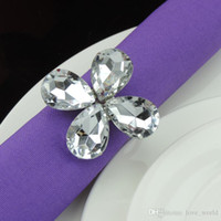 Wholesale Hot New Shiny Crystal Napkin Rings Napkin Rings Napkin ring holder for Hotel Wedding Banquet Bridal Shower Favour Party Table Decoration DHL