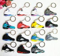 america souvenir - keychains Fashion Keychains PVC Soft Basketball Shoes Key Pendant Car Keychain Generation Colours Fan Souvenirs toys Christmas gift