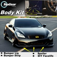 Wholesale Bumper Lip For Infiniti G Series G20 G35 V35 G25 G37 Q40 Q60Front Skirt Deflector Spoiler For Car Tuning The Stig Recommend Body Kit Strip
