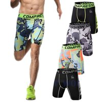 Wholesale Summer Hiking Brand Gymshark Shorts Men Compression Men Running Breathable Quick Dry Wicking Sports Fitness Jogging Shorts