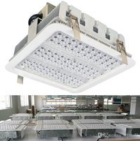 bay ceiling - Explosion Proof Canopy Light Finned Radiator W W W LED High Bay Light for GAS Station Light Warehouse Lamp Recessed Ceiling Light