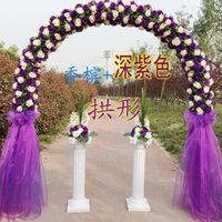 Wholesale New full flower arch wedding door arches happy opening celebration wreath