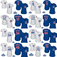Wholesale Womens Chicago Cubs David Ross Javier Baez Schwarber Kris Bryant Lester Anthony Rizzo Maddon ARRIETA w World Series Champions Jersey