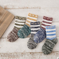 baby holiday socks - 15styles colorways fashion Baby socks thick warm comfort soft kids socks Heather stripes students boys girls cotton socks Holiday gifts