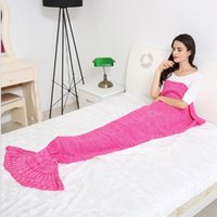age mechanical - 1 x0 m adult age group men women Mermaid Tail blanket shark blankets boy lady girl shark tail blanket Minecraft knitted blankets