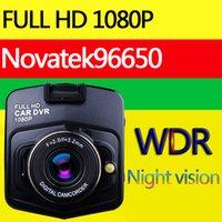 Novatek 96650 mini cámara del dvr del coche de los DVR HD 1080P del grabador de video del estacionamiento registrator visión nocturna cuadro negro carcam del tablero de levas