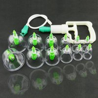 Wholesale 12 Vacuum Cupping Device Vacuum Pull Cylinders Cupping Kit Body Suction Health Massage Therapy Breast Nipple Pump