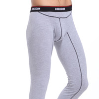 Wholesale Mens Winter Fleece Thermal Underwear New Warm Cotton Sexy Thermo Underwear Man Long John Underpants M XXL