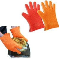 best rubber gloves - Best selling durable cooking FDA silicone glove with five fingers