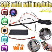 Wholesale 5pcs S06 HD P WiFi Spy IP Camera DIY Module DVR Nanny Cam Security H Remote Monitor Wireless IP P2P Camera CCTV Camera Module