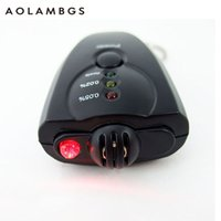 Wholesale Mini portable alcohol tester blowing type car led digital breathalyzer tester with key chain automotive supplies