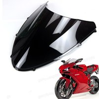 Wholesale 1 New Motorcycle Double Bubble Windscreen Fairing Windshield Lens ABS for Ducati
