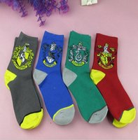 Wholesale Unisex Harry Potter Socks Ravenclaw Gryffindor Hosiery Slytherin Hufflepuff Socks Cosplay Socks School Badge Socks design KKA839