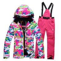 Wholesale Skiing Suits Women Waterproof Snowboard Jacket Women Winter Outdoor Sport Windproof Warm Snow Jacket High Quality Ski Suit B3612